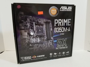 Asus Prime B350M-A Socket AM4 Motherboard $119