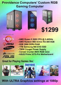 Custom RGB gaming Computer